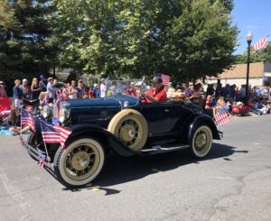 Classic Car at July 4th Parade