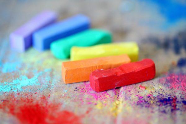 rainbow pastels